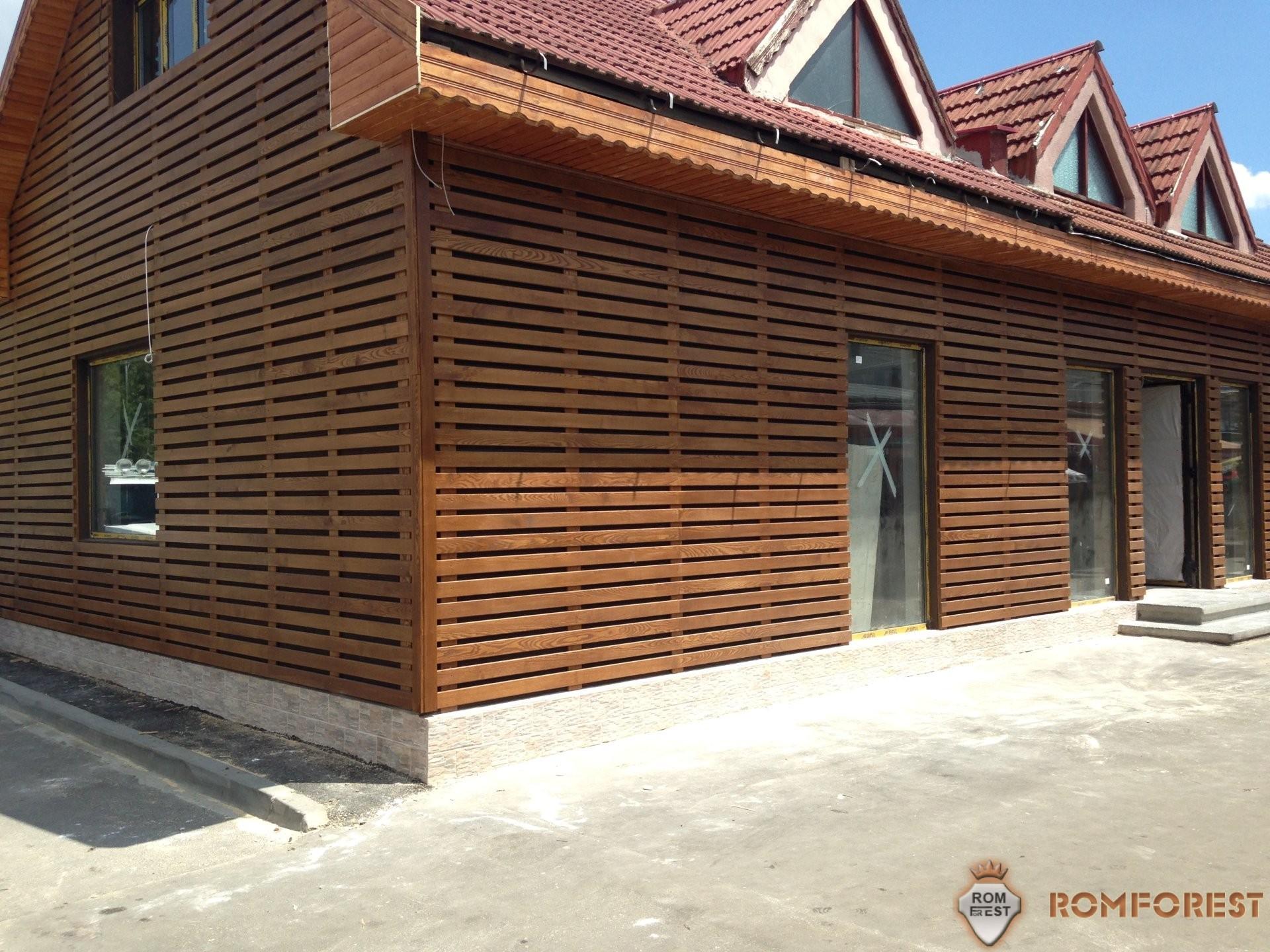 lambriu exterior lemn frasin fatada ventilata lemn romforest
